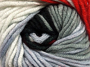 Fiber Content 100% Acrylic, White, Red, Brand Ice Yarns, Grey Shades, Black, Yarn Thickness 5 Bulky  Chunky, Craft, Rug, fnt2-50843
