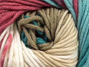 Fiber Content 100% Acrylic, White, Turquoise, Orchid, Brand Ice Yarns, Cream, Beige, Yarn Thickness 5 Bulky  Chunky, Craft, Rug, fnt2-50846