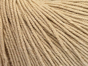 Fiber Content 60% Cotton, 40% Acrylic, Brand Ice Yarns, Beige, Yarn Thickness 2 Fine  Sport, Baby, fnt2-51206