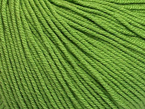 Fiber Content 60% Cotton, 40% Acrylic, Brand Ice Yarns, Green, Yarn Thickness 2 Fine  Sport, Baby, fnt2-51209