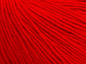 Fiber Content 60% Cotton, 40% Acrylic, Red, Brand Ice Yarns, Yarn Thickness 2 Fine  Sport, Baby, fnt2-51211