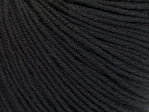 Fiber Content 60% Cotton, 40% Acrylic, Brand Ice Yarns, Black, Yarn Thickness 2 Fine Sport, Baby, fnt2-51214