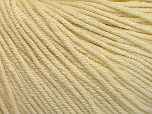 Fiber Content 60% Cotton, 40% Acrylic, Brand Ice Yarns, Cream, Yarn Thickness 2 Fine  Sport, Baby, fnt2-51221