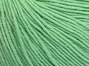 Fiber Content 60% Cotton, 40% Acrylic, Mint Green, Brand Ice Yarns, Yarn Thickness 2 Fine  Sport, Baby, fnt2-51226