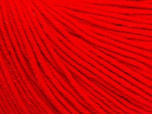 Fiber Content 60% Cotton, 40% Acrylic, Red, Brand Ice Yarns, Yarn Thickness 2 Fine  Sport, Baby, fnt2-51229