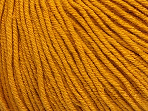 Fiber Content 60% Cotton, 40% Acrylic, Brand Ice Yarns, Gold, Yarn Thickness 2 Fine  Sport, Baby, fnt2-51231
