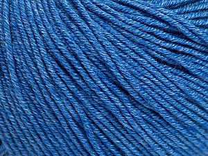 Fiber Content 60% Cotton, 40% Acrylic, Jeans Blue, Brand Ice Yarns, Yarn Thickness 2 Fine Sport, Baby, fnt2-51235