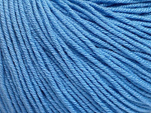 Fiber Content 60% Cotton, 40% Acrylic, Light Blue, Brand Ice Yarns, Yarn Thickness 2 Fine  Sport, Baby, fnt2-51236