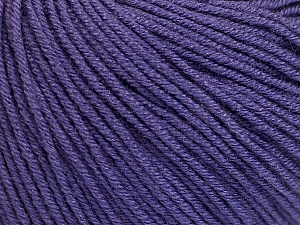Fiber Content 60% Cotton, 40% Acrylic, Purple, Brand Ice Yarns, Yarn Thickness 2 Fine  Sport, Baby, fnt2-51240
