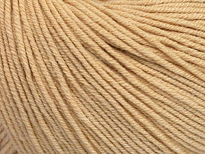 Fiber Content 60% Cotton, 40% Acrylic, Brand Ice Yarns, Dark Cream, Yarn Thickness 2 Fine  Sport, Baby, fnt2-51247
