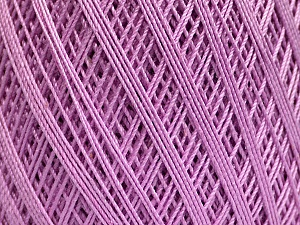 Ne: 10/3 Nm: 17/3 Fiber Content 100% Mercerised Cotton, Lilac, Brand Ice Yarns, Yarn Thickness 1 SuperFine  Sock, Fingering, Baby, fnt2-51249