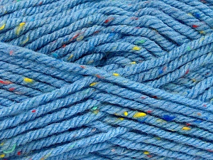Fiber Content 72% Acrylic, 3% Viscose, 25% Wool, Light Blue, Brand Ice Yarns, Yarn Thickness 6 SuperBulky  Bulky, Roving, fnt2-51359