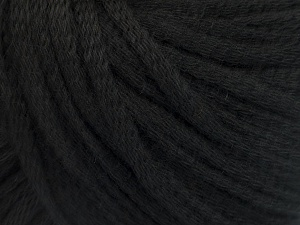 Fiber Content 50% Wool, 50% Acrylic, Brand Ice Yarns, Black, Yarn Thickness 4 Medium  Worsted, Afghan, Aran, fnt2-51389