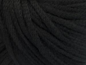Fiber Content 50% Wool, 50% Acrylic, Brand Ice Yarns, Black, Yarn Thickness 4 Medium  Worsted, Afghan, Aran, fnt2-51389