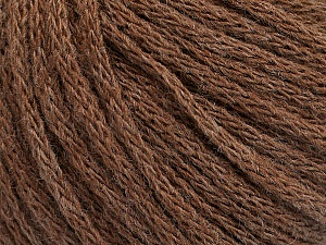 Fiber Content 50% Acrylic, 50% Wool, Brand Ice Yarns, Brown Melange, Yarn Thickness 4 Medium  Worsted, Afghan, Aran, fnt2-51393