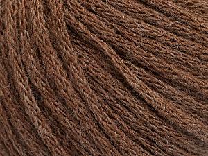 Fiber Content 50% Acrylic, 50% Wool, Brand Ice Yarns, Brown Melange, Yarn Thickness 4 Medium  Worsted, Afghan, Aran, fnt2-51393