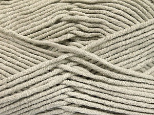 Fiber Content 55% Cotton, 45% Acrylic, Light Grey, Brand Ice Yarns, Yarn Thickness 4 Medium  Worsted, Afghan, Aran, fnt2-51429