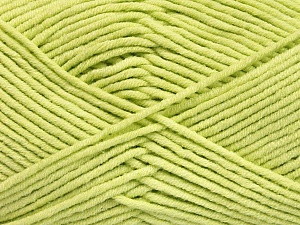 Fiber Content 55% Cotton, 45% Acrylic, Light Green, Brand Ice Yarns, Yarn Thickness 4 Medium  Worsted, Afghan, Aran, fnt2-51431