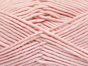 Fiber Content 55% Cotton, 45% Acrylic, Brand Ice Yarns, Baby Pink, Yarn Thickness 4 Medium  Worsted, Afghan, Aran, fnt2-51433