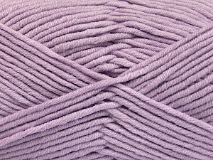 Fiber Content 55% Cotton, 45% Acrylic, Light Lilac, Brand Ice Yarns, Yarn Thickness 4 Medium  Worsted, Afghan, Aran, fnt2-51434