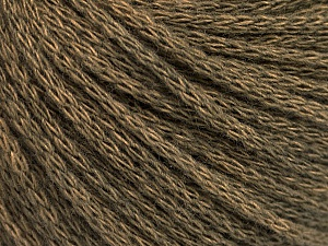 Fiber Content 50% Acrylic, 50% Wool, Khaki Melange, Brand Ice Yarns, Yarn Thickness 4 Medium  Worsted, Afghan, Aran, fnt2-51474