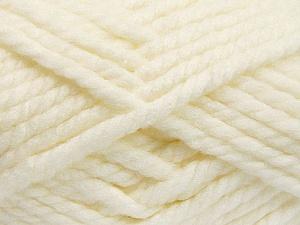 Fiber Content 55% Acrylic, 45% Wool, Light Cream, Brand Ice Yarns, Yarn Thickness 6 SuperBulky Bulky, Roving, fnt2-51487
