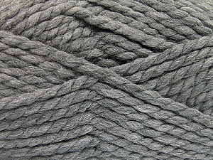 SuperBulky Fiber Content 55% Acrylic, 45% Wool, Brand Ice Yarns, Grey, Yarn Thickness 6 SuperBulky Bulky, Roving, fnt2-51488