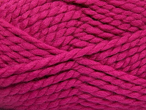 SuperBulky  Fiber Content 55% Acrylic, 45% Wool, Brand Ice Yarns, Fuchsia, Yarn Thickness 6 SuperBulky  Bulky, Roving, fnt2-51489