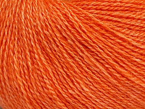 Fiber Content 65% Merino Wool, 35% Silk, Orange, Brand Ice Yarns, Yarn Thickness 1 SuperFine  Sock, Fingering, Baby, fnt2-51507