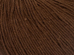 Fiber Content 60% Cotton, 40% Acrylic, Brand Ice Yarns, Dark Brown, Yarn Thickness 2 Fine  Sport, Baby, fnt2-51513