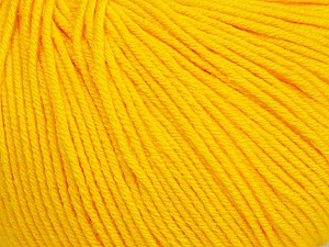 Fiber Content 60% Cotton, 40% Acrylic, Yellow, Brand Ice Yarns, Yarn Thickness 2 Fine  Sport, Baby, fnt2-51514