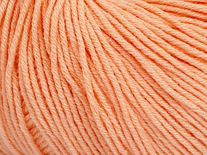 Fiber Content 60% Cotton, 40% Acrylic, Light Salmon, Brand Ice Yarns, Yarn Thickness 2 Fine  Sport, Baby, fnt2-51515