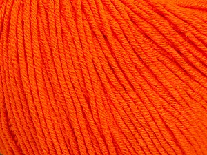 Fiber Content 60% Cotton, 40% Acrylic, Orange, Brand Ice Yarns, Yarn Thickness 2 Fine  Sport, Baby, fnt2-51516