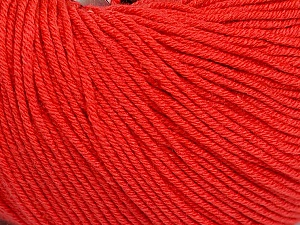 Fiber Content 60% Cotton, 40% Acrylic, Tomato Red, Brand Ice Yarns, Yarn Thickness 2 Fine Sport, Baby, fnt2-51517