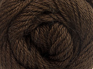 Fiber Content 45% Alpaca, 30% Polyamide, 25% Wool, Brand Ice Yarns, Dark Brown, Yarn Thickness 3 Light  DK, Light, Worsted, fnt2-51525