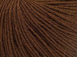 Fiber Content 40% Acrylic, 40% Merino Wool, 20% Polyamide, Brand Ice Yarns, Dark Brown, Yarn Thickness 2 Fine  Sport, Baby, fnt2-51541