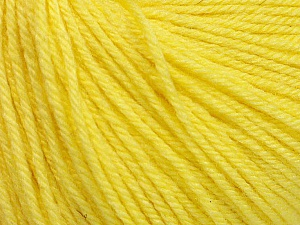 Fiber Content 40% Merino Wool, 40% Acrylic, 20% Polyamide, Light Yellow, Brand Ice Yarns, Yarn Thickness 2 Fine  Sport, Baby, fnt2-51546