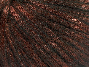 Fiber Content 70% Polyamide, 19% Merino Wool, 11% Acrylic, Brand Ice Yarns, Copper, Black, Yarn Thickness 4 Medium  Worsted, Afghan, Aran, fnt2-51548