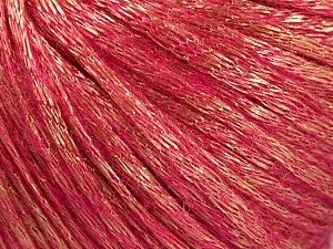 Fiber Content 70% Polyamide, 19% Merino Wool, 11% Acrylic, Pink, Brand Ice Yarns, Gold, Yarn Thickness 4 Medium  Worsted, Afghan, Aran, fnt2-51553