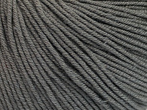 Fiber Content 60% Cotton, 40% Acrylic, Brand Ice Yarns, Grey, Yarn Thickness 2 Fine  Sport, Baby, fnt2-51557