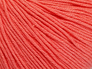 Fiber Content 60% Cotton, 40% Acrylic, Salmon, Brand Ice Yarns, Yarn Thickness 2 Fine  Sport, Baby, fnt2-51561