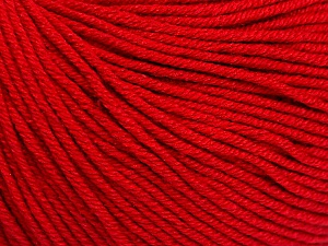 Fiber Content 60% Cotton, 40% Acrylic, Red, Brand Ice Yarns, Yarn Thickness 2 Fine Sport, Baby, fnt2-51563