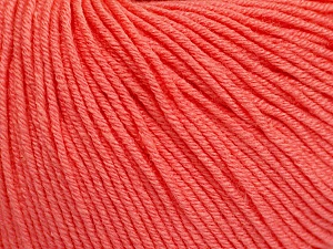 Fiber Content 60% Cotton, 40% Acrylic, Salmon, Brand Ice Yarns, Yarn Thickness 2 Fine  Sport, Baby, fnt2-51564