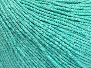 Fiber Content 60% Cotton, 40% Acrylic, Mint Green, Brand Ice Yarns, Yarn Thickness 2 Fine Sport, Baby, fnt2-51566