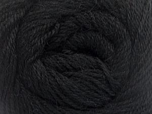 Fiber Content 45% Alpaca, 30% Polyamide, 25% Wool, Brand Ice Yarns, Black, Yarn Thickness 2 Fine  Sport, Baby, fnt2-51586