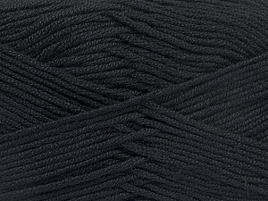 Fiber Content 50% Bamboo, 50% Acrylic, Brand Ice Yarns, Black, Yarn Thickness 2 Fine  Sport, Baby, fnt2-51647
