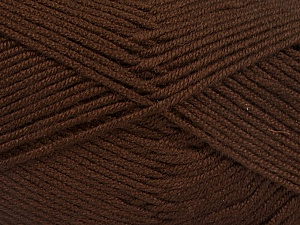 Fiber Content 50% Bamboo, 50% Acrylic, Brand Ice Yarns, Brown, Yarn Thickness 2 Fine  Sport, Baby, fnt2-51649