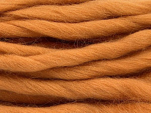 Fiber Content 100% Superwash Wool, Light Brown, Brand Ice Yarns, Yarn Thickness 6 SuperBulky  Bulky, Roving, fnt2-51674