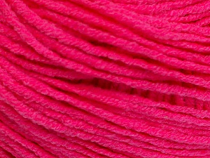 Fiber Content 50% Acrylic, 50% Cotton, Neon Pink, Brand Ice Yarns, Yarn Thickness 3 Light  DK, Light, Worsted, fnt2-51723