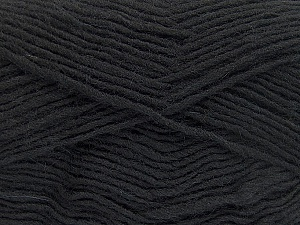 Fiber Content 50% Wool, 50% Acrylic, Brand Ice Yarns, Black, Yarn Thickness 3 Light  DK, Light, Worsted, fnt2-51853